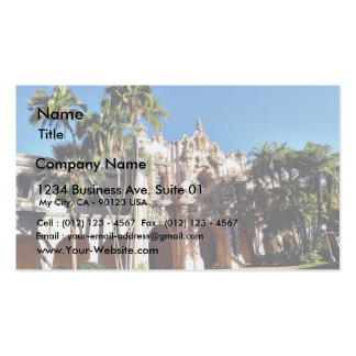 Buildings On The Prado In Balboa Park San Diego Business Card
