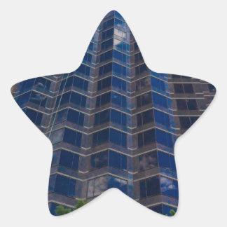 buildings star sticker