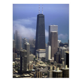 Buildings, view from top of Sears Tower, Chicago, Postcard