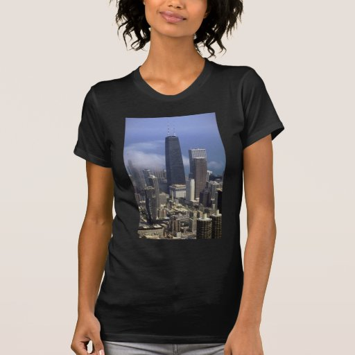 Buildings, view from top of Sears Tower, Chicago, Tees