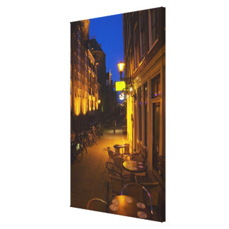 Buildings with 17th or 18th century facade and canvas print