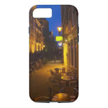 Buildings with 17th or 18th century facade and iPhone 7 case