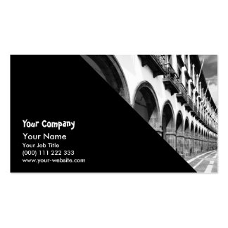 Buildings with arches business card