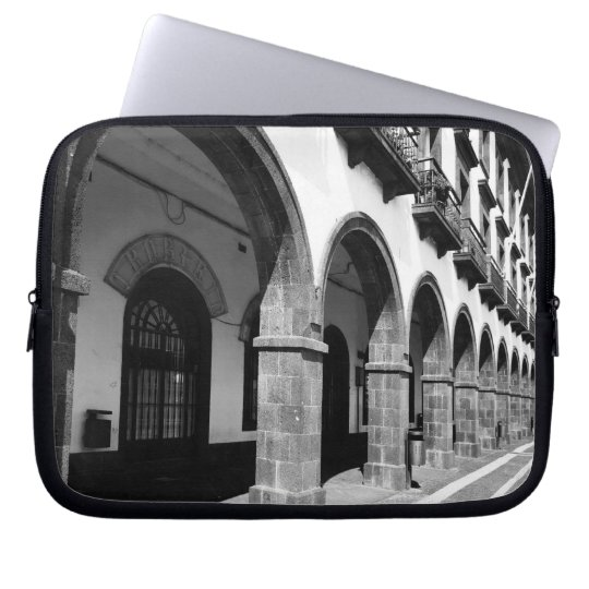 Buildings with arches laptop sleeve