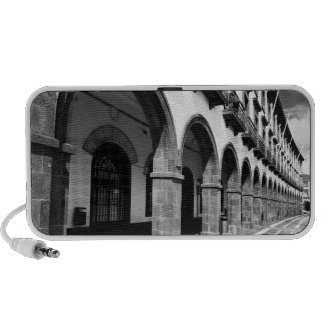 Buildings with arches portable speaker