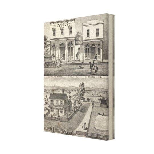 Buildings Woodland, Yolo Canvas Print