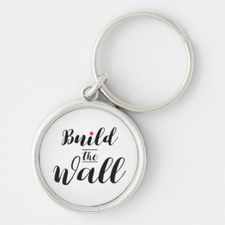 #BuildTheWall Build the Wall MAGA Trump Hashtag US Keychain