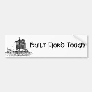 Built Fjord Tough Car Bumper Sticker