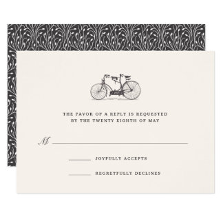 Built for Two | Vintage Tandem Bicycle RSVP Card