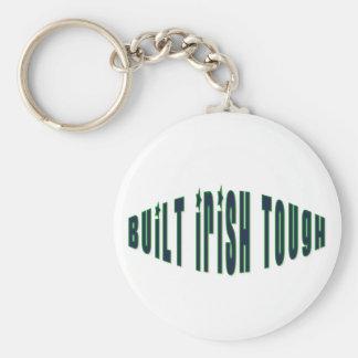 Built Irish Tough Basic Round Button Keychain
