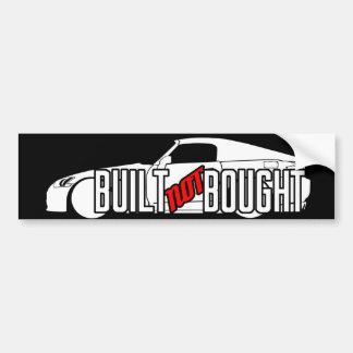 Built Not Bought S2K Bumper Sticker