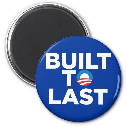 Built to Last - President Barack Obama 2 Inch Round Magnet