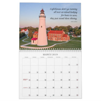 Built to Serve Lighthouse Calender Calendar