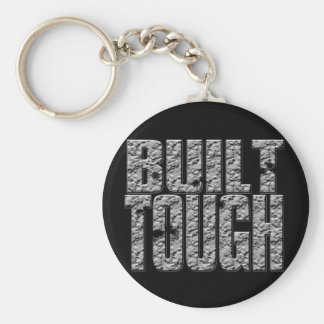 BUILT TOUGH.Hardcore Strong Muscle Man_bl rnd Keychain