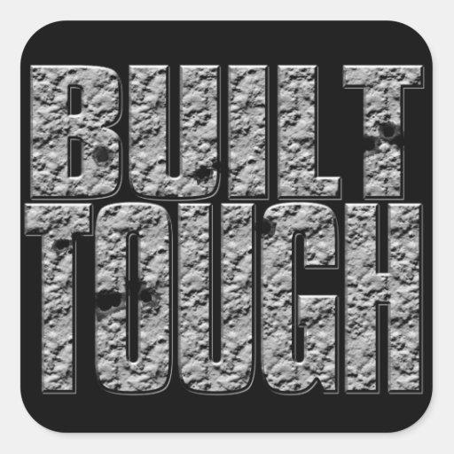 BUILT TOUGH.Hardcore Strong Muscle Man.Sticker Square Sticker
