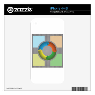 Buisiness Circle Skin For The iPhone 4