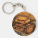 Buisness Man - Packed Suitcases Basic Round Button Keychain