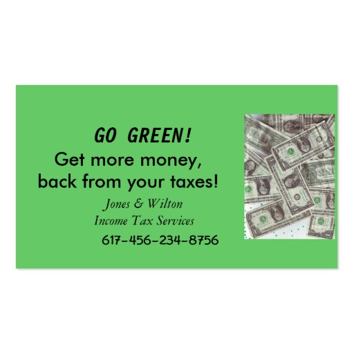 buissness card go green business card zazzle