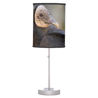 buitre negro lámpara de mesa