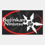 Bujinkan Ninjutsu Rectangular Pegatina