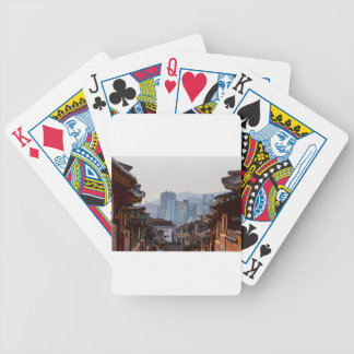 Bukchon Hanok Village Contrast Bicycle Playing Cards