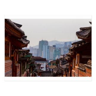 Bukchon Hanok Village Contrast Postcard