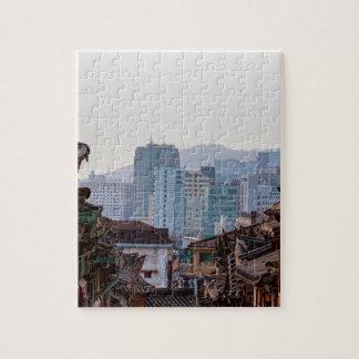 Bukchon Hanok Village Contrast Puzzle