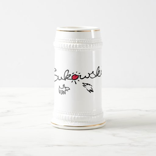 Bukowski - cerveza Stein Taza