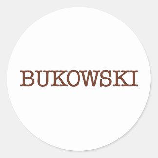 Bukowski Etiqueta Redonda