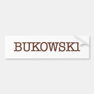 Bukowski Pegatina De Parachoque