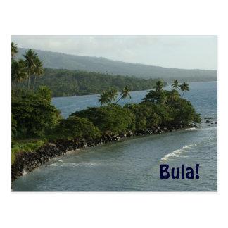 Bula de la postal de Fiji