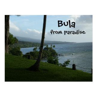 Bula del paraíso tarjeta postal