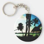 Bula! Fiji Basic Round Button Keychain