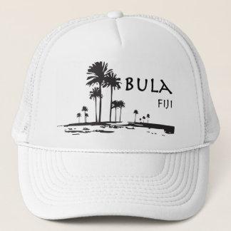 Bula Fiji Palm Tree Graphic Trucker Hat