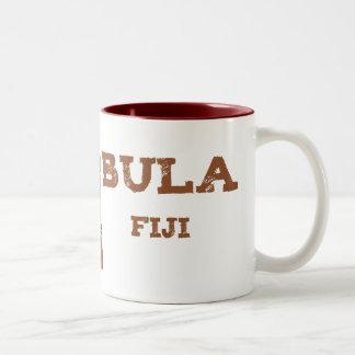 Bula Fiji with Tiki Two-Tone Coffee Mug