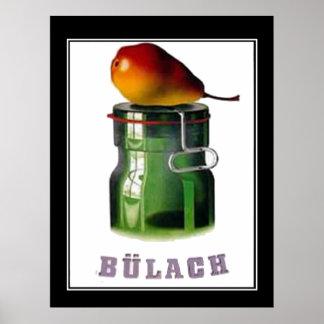 Bulach Switzerland Zurich Vintage Poster