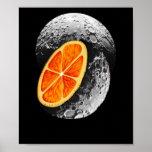Bulan Orange Moon Poster