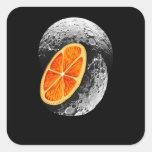 Bulan Orange Moon Square Sticker