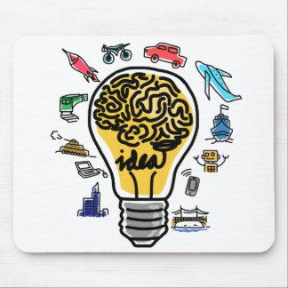 Bulb and Brain Idea Mousepad