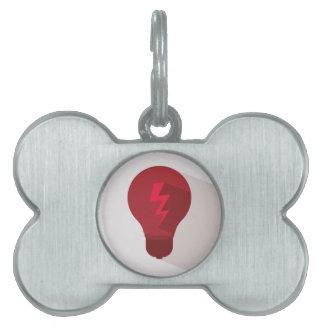 Bulb design pet name tag
