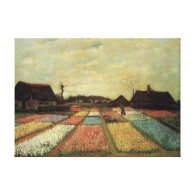 Bulb Fields by Vincent van Gogh Gallery Wrapped Canvas