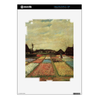 Bulb Fields by Vincent van Gogh iPad 2 Decals