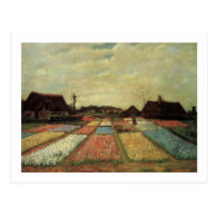 Bulb Fields by Vincent van Gogh. Post Card