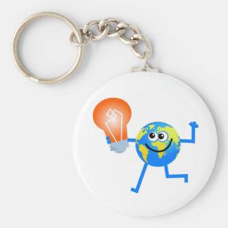 Bulb Globe Key Chain
