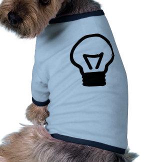 Bulb light icon pet shirt
