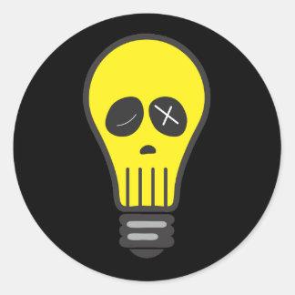 Bulb Skull (Color) Classic Round Sticker