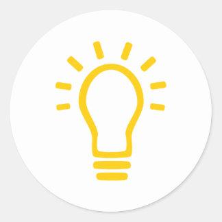 Bulb Round Stickers