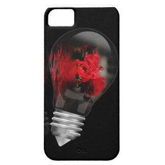 Bulb with a bunch of red roses iPhone 5 case