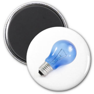 Bulbo azul imán redondo 5 cm