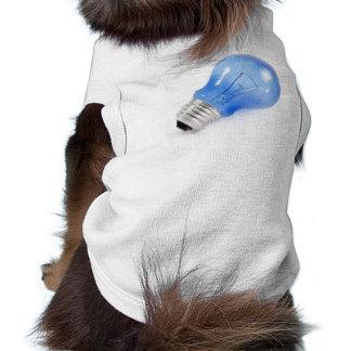 Bulbo azul playera sin mangas para perro